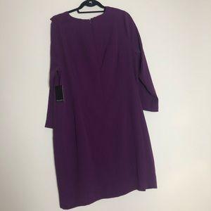 Eloquii Dresses - ELOQUII Purple Ruffle Sheath Dress
